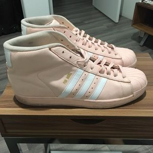 Adidas Pink & White Sneakers